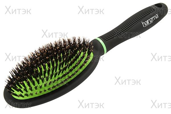 harizma Щётка овальная ECO brush, натуральная щетина