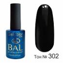 BAL Гель-лак каучуковый 302 Черный, 11мл