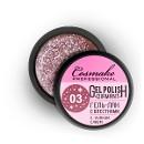Гель-лак жидкая фольга Стальной Розовый Diamant №103 5г Cosmake