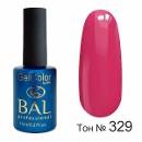 BAL Гель-лак каучуковый 329 Карамельно-розовый, 11мл