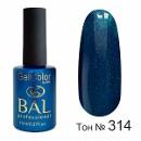 BAL Гель-лак каучуковый 314 Синие сумерки, 11мл