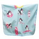 Пеньюар harizma детский Пингвины 100х75см голубой