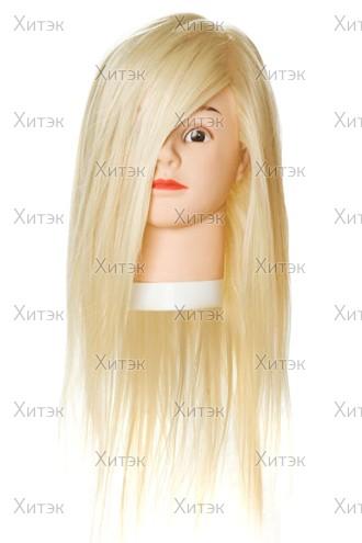 Манекен учебный, блонд, длина волос 50-60 см, 50% натуральный