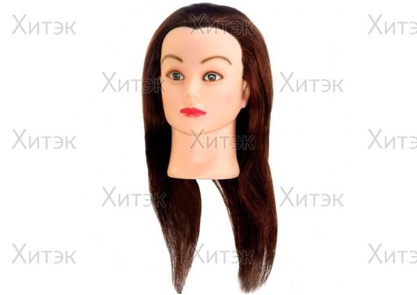 Тренировочный манекен шатен 40см, натуральные волосы