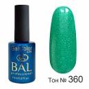 BAL Гель-лак каучуковый 360 Зеленый чай, 11мл
