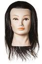 Манекен учебный, брюнет, длина волос 40-45см, 100% натуральный