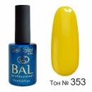 BAL Гель-лак каучуковый 352 Желтый, 11мл