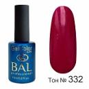 BAL Гель-лак каучуковый 332 Кровавый Поцелуй, 11мл