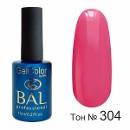 BAL Гель-лак каучуковый 304 Розовый бархат, 11мл