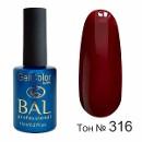 BAL Гель-лак каучуковый 316 Рубиновая страсть, 11мл