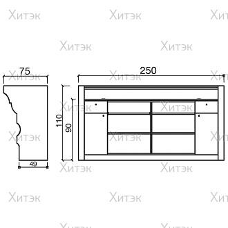 Стойка администратора ALZIRA (250)
